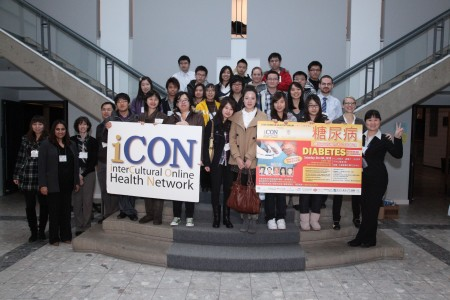 Volunteers and eHealth staff together after the December 4 Chinese language Diabetes Forum