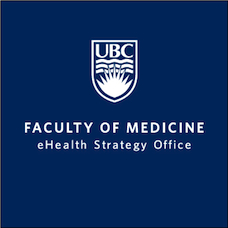 Logo for the Home-Based Telehealth scoping review project at the UBC eHealth Strategy Office